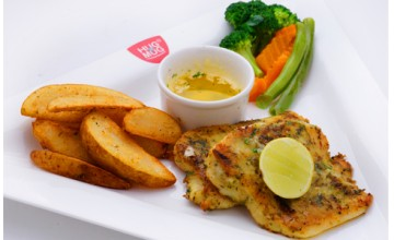 Herb crusted grilled fish from Hug a Mug