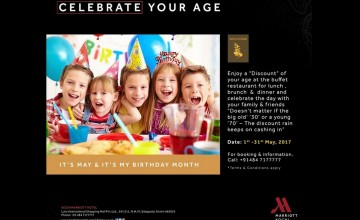 Celebrate Your Age - Food Offers From Kochi Marriott