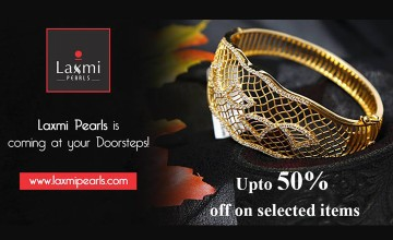 Upto 50% off on Selected Items at Laxmi Pearls