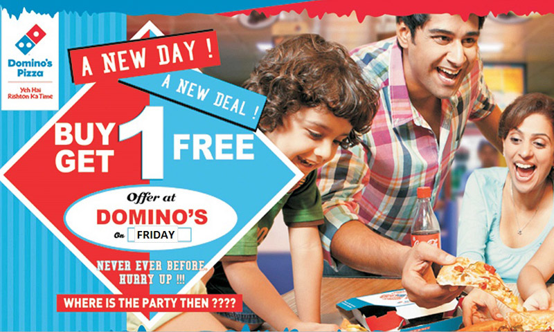 Buy 1, Get 1 Free at Dominos