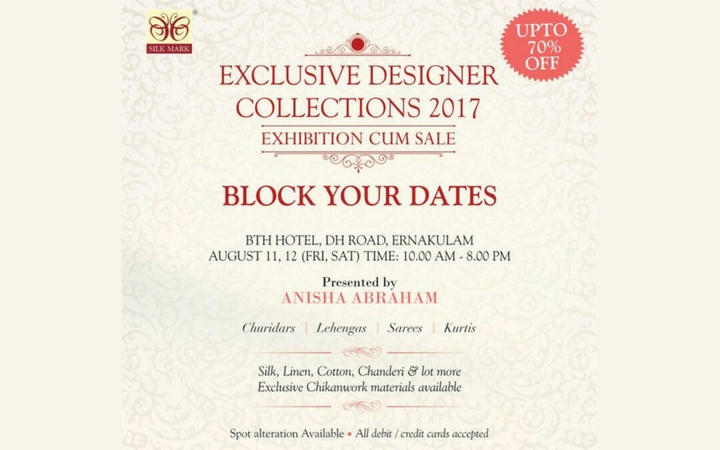 Exclusive Designer's Collections 2017 - Exhibition and Sale upto 70 % Off