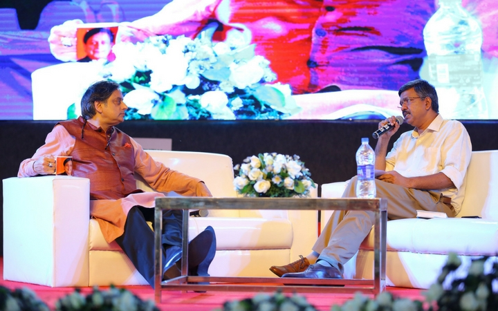 Shashi Tharoor charms the audience at Krithi International Book Fair