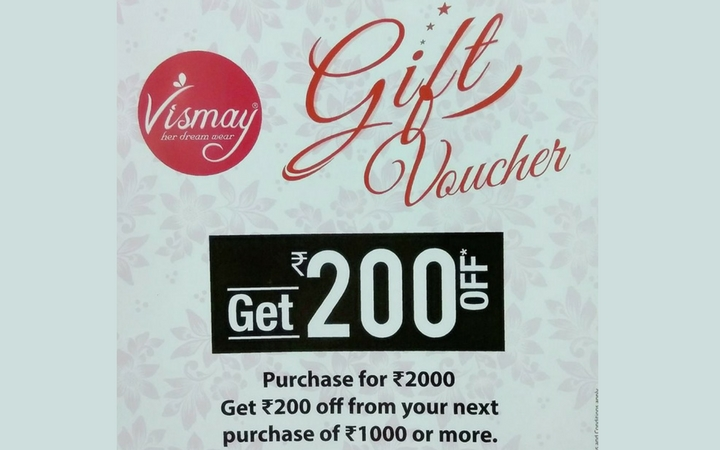 Shop and Win Gift Vouchers from Vismay